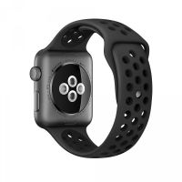 Ремешок Silicone with Flat Black/Black Nike for Apple Watch 38/40/42/44mm, Цена: 612 грн, Фото
