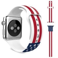 Ремешок Silicone American Flag for Apple Watch 38/40/42/44mm, Цена: 592 грн, Фото