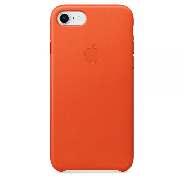 Кожаный чехол Apple Leather Case Bright Orange для iPhone 7/8 - Фото 1