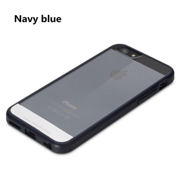 Чехол Rock Enchanting Ultra Hybrid Soft Bumper iPhone 6. iPhone 6 plus Navy Blue - Фото 1