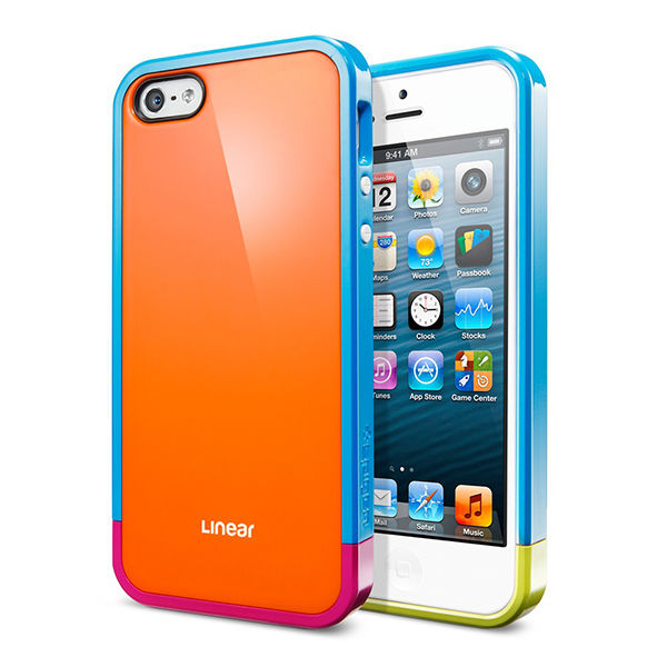 Чехол SGP Linear Pops Series Orange для iPhone 5 - Фото 1