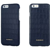 Кожаный чехол Bushbuck BARONAGE CAIMAN Genuine Leather for iPhone 6 (Blue), Цена: 548 грн, Фото
