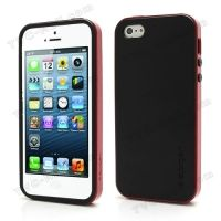 SPIGEN SGP Neo Premium TPU   PC Hybrid Cover Case for iPhone 4.4s.5 - Black / Red, Цена: 287 грн, Фото