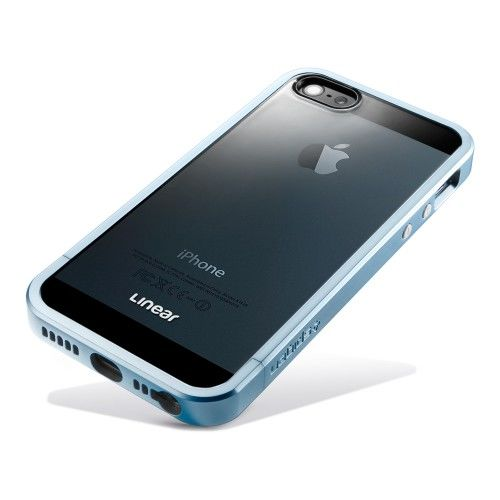 Чехол SGP Case Linear Metal Crystal Series Metal Blue for iPhone 5.5s - Фото 4