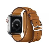 Ремешок для Apple Watch 38/40mm Hermes Double Tour Brown, Цена: 929 грн, Фото