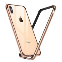 Бампер Silicone-Aluminium для iPhone X/Xs Gold, Цена: 433 грн, Фото