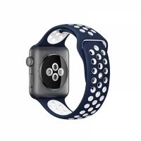 Ремешок Silicone with Blue/White Nike for Apple Watch 38/40/42/44mm, Цена: 612 грн, Фото