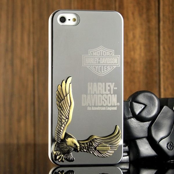 Harley Davidson 3D Case Silver for iPhone 4.4s и для iPhone 5 - Фото 1