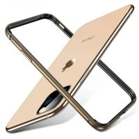 Бампер Silicone-Aluminium для iPhone 11 Pro Max - Gold, Цена: 457 грн, Фото