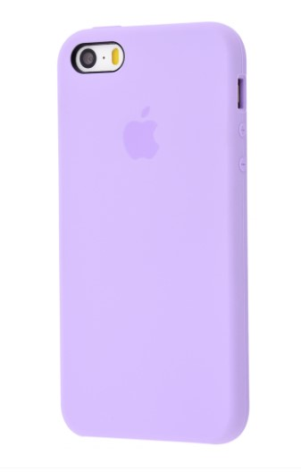 Чехол Silicone Case для iPhone 5/5S/SE Light Purple - Фото 1