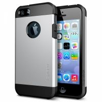 SGP SPIGEN Case Tough Armor Satin Silver- Защитный чехол для iPhone 4.4s. 5.5s, Цена: 304 грн, Фото