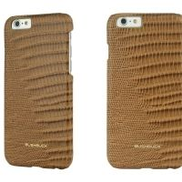 Кожаный чехол Bushbuck BARONAGE LIZARD Genuine Leather for iPhone 6 (Khaki), Цена: 548 грн, Фото