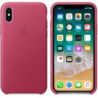 Чехол iPhone X/XS Leather Case - Pink Fuchsia, Цена: 603 грн, Фото