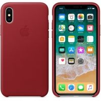 Чехол iPhone X/XS Leather Case - (PRODUCT) RED, Цена: 603 грн, Фото