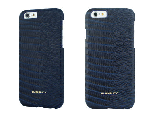 Кожаный чехол Bushbuck BARONAGE LIZARD Genuine Leather for iPhone 6 (Blue) - Фото 1