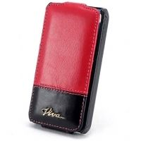 Кожаный VIVA Madrid Leather Case for Apple iPhone 4/4S - Bloque de Pinkum Onyx Black Pink, Цена: 266 грн, Фото