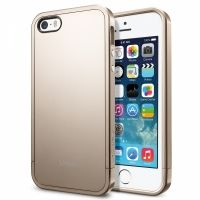 Чехол SGP Linear Metal Crystal Case (Champagne Gold) бампер для iPhone 5/5S, Цена: 318 грн, Фото
