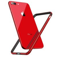 Бампер silicone-aluminium Red для iPhone 7 plus/ iPhone 8 plus, Цена: 427 грн, Фото