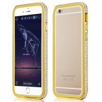 Фирменный бампер X-Fitted Bling Bumper Gold for iPhone 6. iPhone 6 plus, Цена: 619 грн, Фото