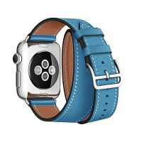 Ремешок для Apple Watch 38/40mm Hermes Double Tour Light Blue, Цена: 929 грн, Фото
