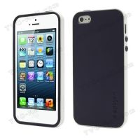 SPIGEN SGP Neo Premium TPU   PC Hybrid Cover Case for iPhone 4.4s.5 - Purple / White, Цена: 275 грн, Фото