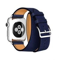 Ремешок для Apple Watch 42/44mm Hermes Double Tour Midnight Blue, Цена: 929 грн, Фото
