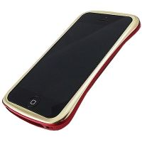 Бампер draco elegance aluminum for iPhone 5.5s Gold/Red, Цена: 725 грн, Фото