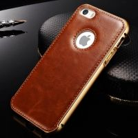 Чехол Cross Leather Brown - bumper gold for iPhone 5.5s / 6.6s, Цена: 409 грн, Фото