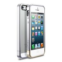 Чехол SGP Case Linear Metal Crystal Series Satin Silver for iPhone 5.5s, Цена: 295 грн, Фото