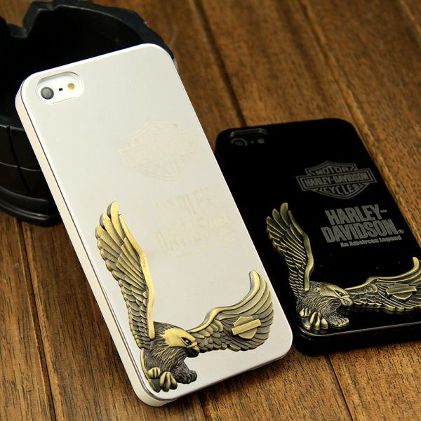 Harley Davidson 3D Case Silver for iPhone 4.4s и для iPhone 5 - Фото 2
