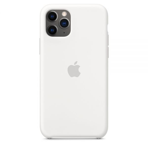 Силиконовый чехол Apple iPhone 11 Pro Silicone Case OEM White - Фото 1