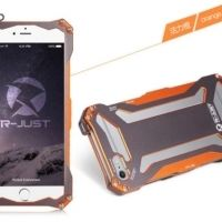 Бампер R-JUST Gundam Series Aluminum Metal Frame For iPhone 5.5s.6 Orange, Цена: 481 грн, Фото
