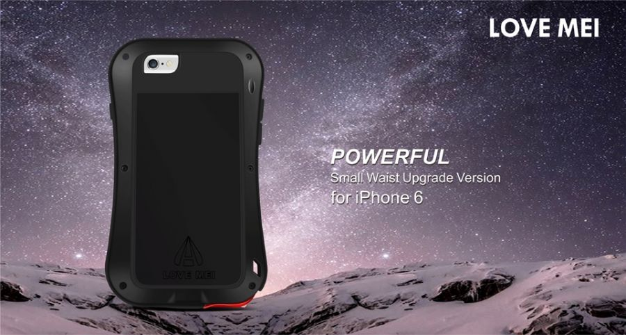 LOVE MEI Case Aluminum Metal Gorilla Glass For iPhone 6. iPhone 6 plus - Фото 3