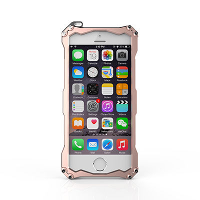 Бампер R-JUST Gundam Series Aluminum For iPhone 5.5s.6.6s Rose Gold - Фото 2