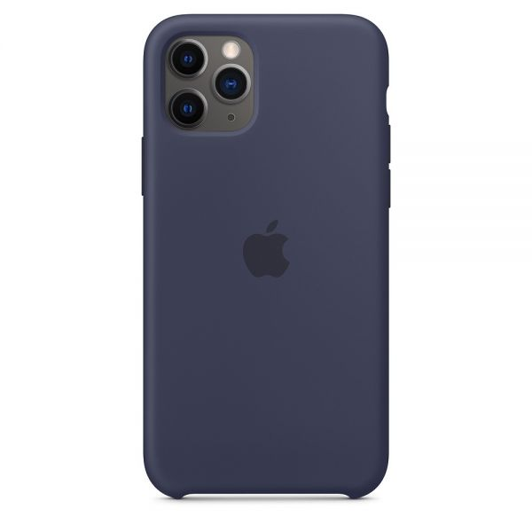 Силиконовый чехол Apple iPhone 11 Pro Max Silicone Case OEM Midnight Blue - Фото 1