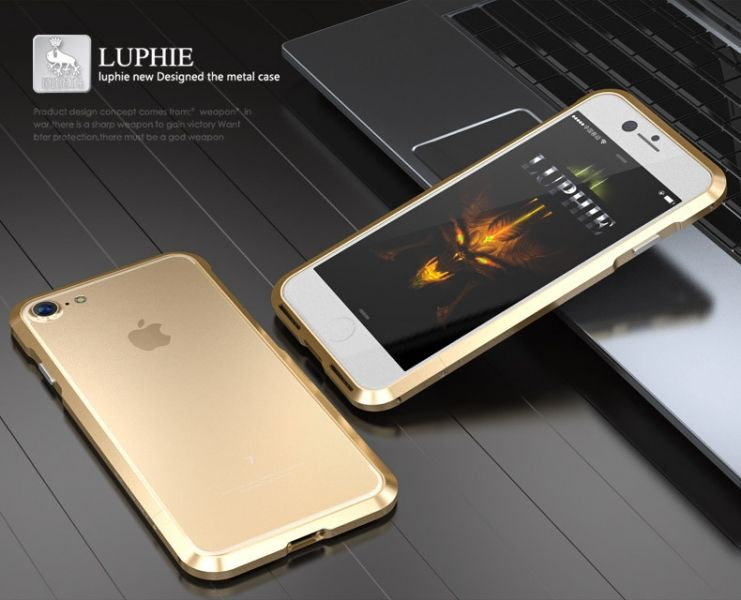 Бампер Luphie Ultra Luxury Gold for iPhone 7. 7 plus/ 8.8 plus - Фото 2