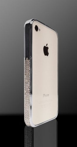 Бампер Swarovski Silver for iphone 4/4s - Фото 2