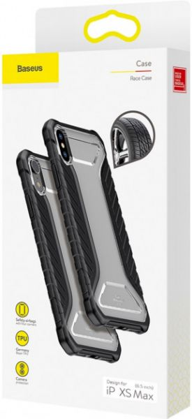 Чехол Baseus Michelin для Apple iPhone X/XS Black - Фото 3