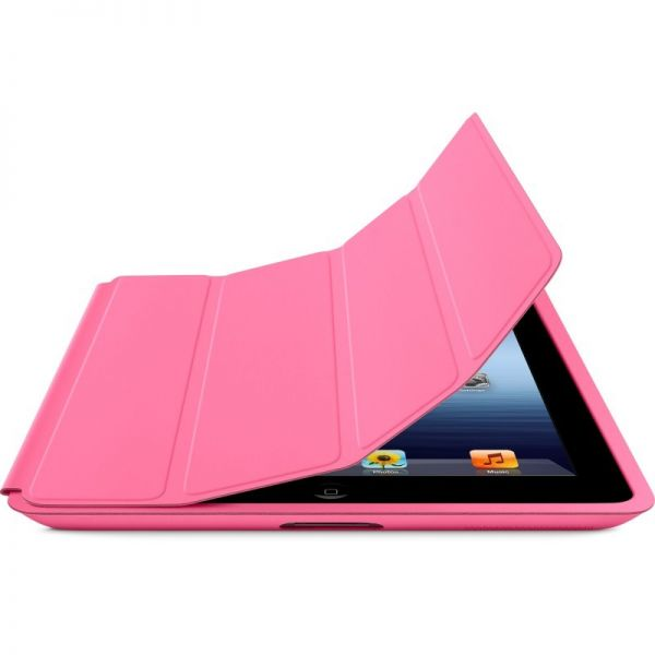 Чехол Pink Leather Smart Cover для iPad - Фото 4