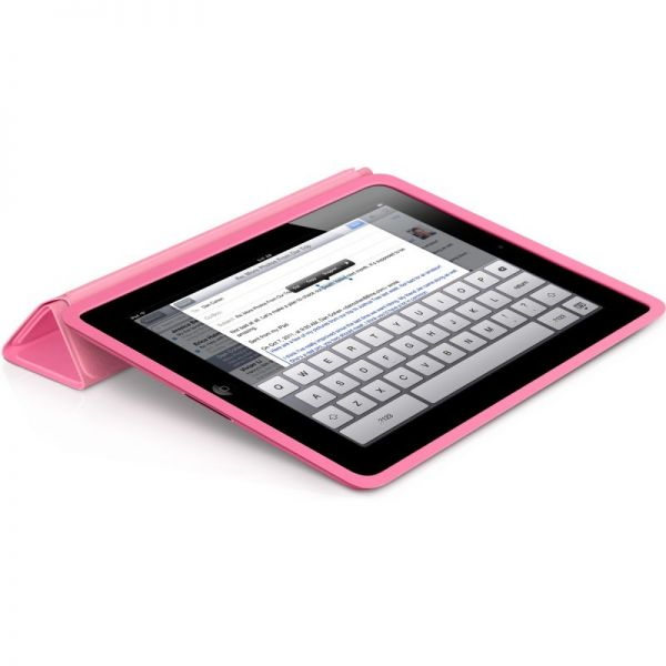Чехол Pink Leather Smart Cover для iPad - Фото 2