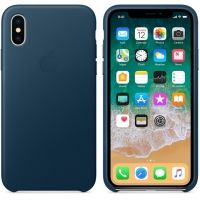 Чехол iPhone X / XS Leather Case - Cosmos Blue, Цена: 603 грн, Фото