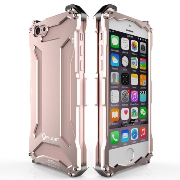 Бампер R-JUST Gundam Series Aluminum For iPhone 5.5s.6.6s Rose Gold - Фото 1