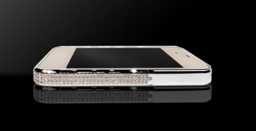 Бампер Swarovski Silver for iphone 4/4s - Фото 4