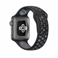 Ремешок Silicone with Black/Cool Gray Nike for Apple Watch 38/40/42/44mm, Цена: 612 грн, Фото