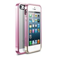 Чехол SGP Case Linear Metal Crystal Series Metal Pink for iPhone 5.5s, Цена: 295 грн, Фото