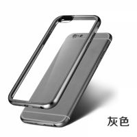 ROCK Ultrathin Aircraft Aluminium Bumper Case with Crystal back for iPhone 6 4.7 - Grey, Цена: 477 грн, Фото
