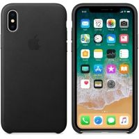 Чехол iPhone X/XS Leather Case - Black, Цена: 603 грн, Фото
