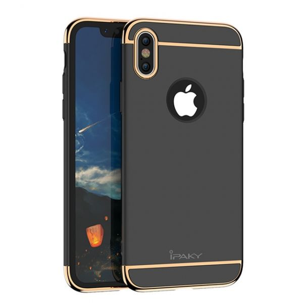 Чехол матовый iPaky Black Full Cover For iPhone X/XS / iPhone 10 - Фото 1