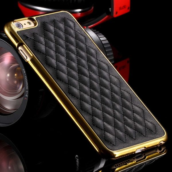 Чехол luxury Black-Gold for iPhone 6 - Фото 1