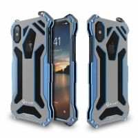 Чехол R-JUST Gundam  Blue Metal Case For iPhone X/10/XS, Цена: 721 грн, Фото